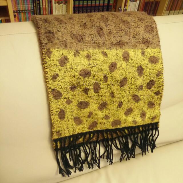 ❄ 冬季精選 | 復古雙色羊絨點點圍巾 日本製