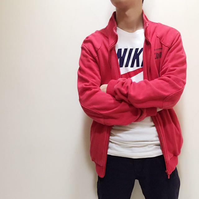 二手 Edwin 紅色棉外套