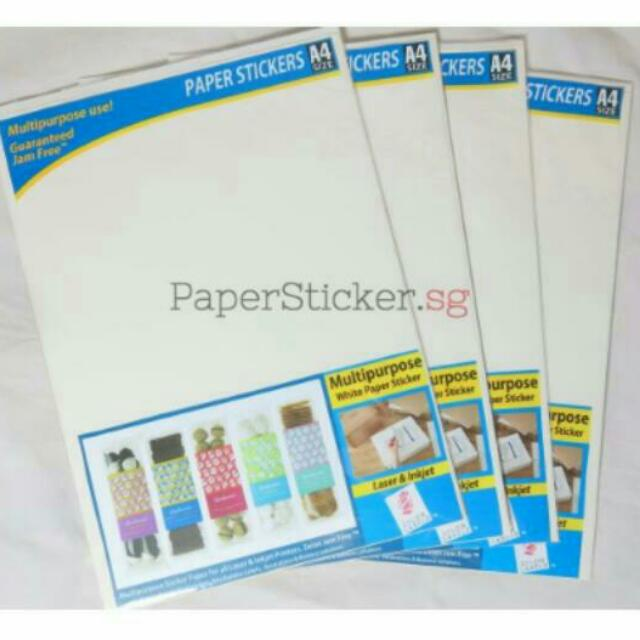 A4 Glossy Sticker Paper - For All Printers