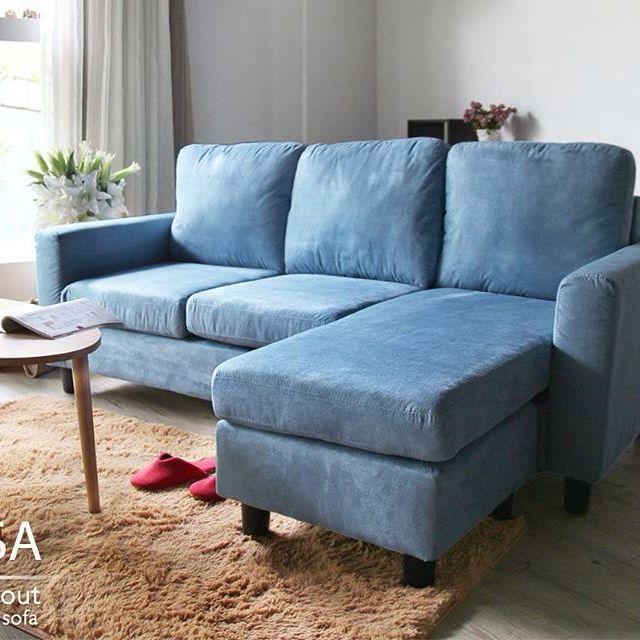 CARA 瑞莎懶人舒適L型沙發(三人+椅凳)