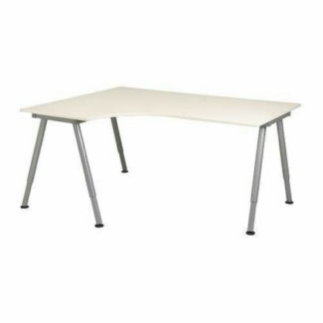 Bekant Left Hand Corner Table Top And Legs Office Desk Curved From Ikea Furniture On Carou
