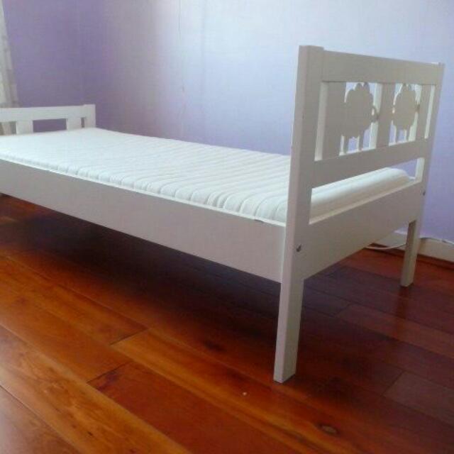 children bed ikea kritter bed frame mattress furniture on carousell. Black Bedroom Furniture Sets. Home Design Ideas