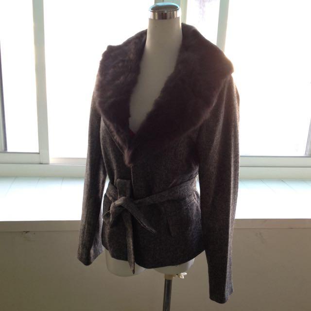 eu羊毛領外套