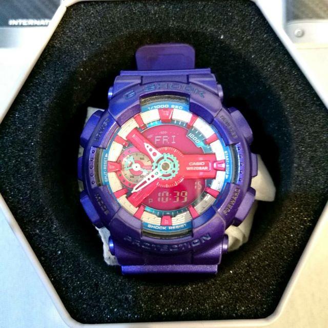(降)G Shock S110HC 藍紫海神