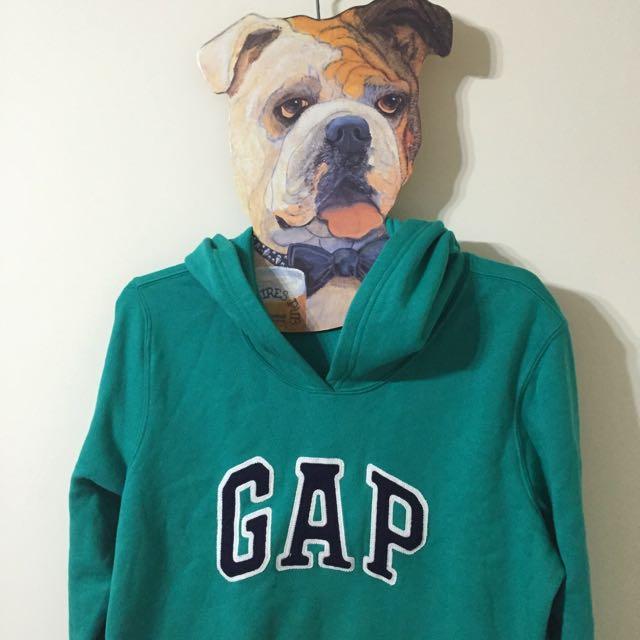 GAP 帽 T,綠,極新