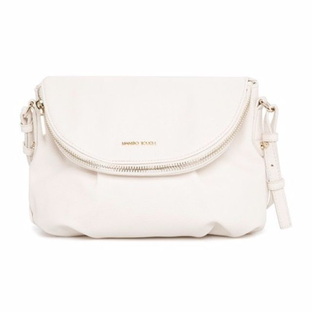(White) MANGO TOUCH Double Compartment Cross Body   Shoulder   Sling Bag  ASC3170 FREE Smartpac Delivery 4ff589ec1b40b