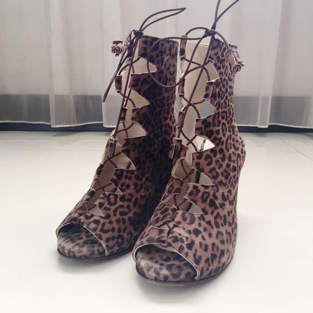 🇺🇸Opening Ceremony 豹紋楔型鞋