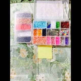 👾隨便賣✨一整組の大顆膠珠彩豆模板燙紙夾子鐵圈(可單買)紅色黑色白色灰色螢光透明黃色綠色藍色粉紅色紫色皮膚色特殊色