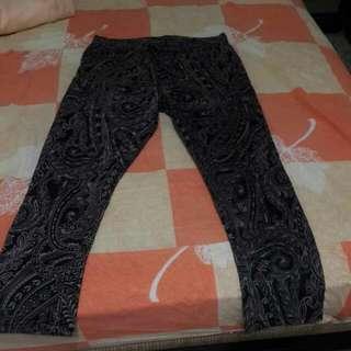 合身窄管花紋褲