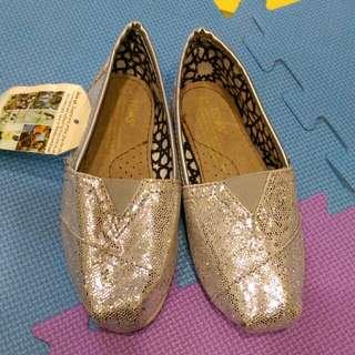 Toms 銀亮女童鞋