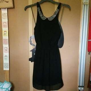 Pearl Studded Collar Cocktail Dress Size Small