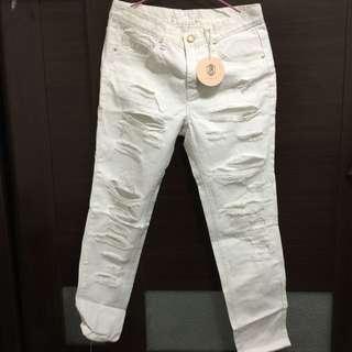 Boyfriend Style 白色長褲