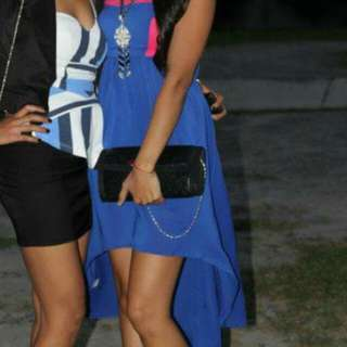 Blue & Pink Dress