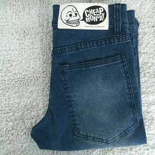 (RESERVED) CHEAP MONDAY Washed Denim Jeans W 24
