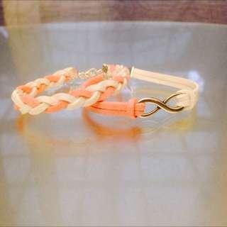 粉色 兩件組手鍊💕