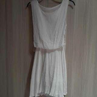 白色 氣質小洋裝