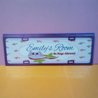 Customise Long Name Door Sign /room Plate /Wall Decoration Plate