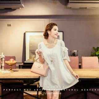 轉售4-twinkle 林鴒、花猴收藏款 韓國絕版大容量高質感復古圓筒包-粉色