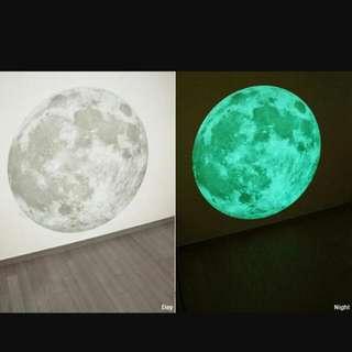 韓風月亮夜光壁貼