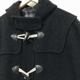💜(待匯款)黑牛角扣大衣