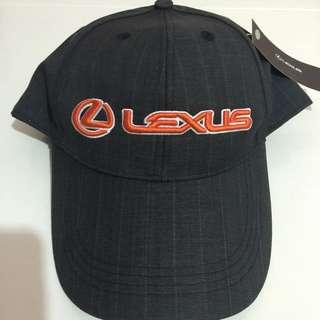 LEXUS原廠正貨深灰條紋橘字高球帽 新款 全新商品 250元