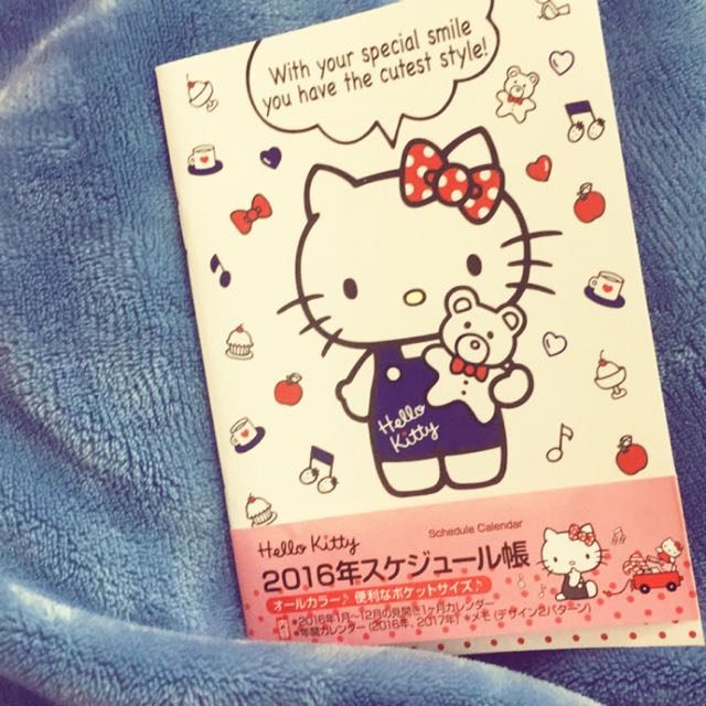 日本🇯🇵2016-A6手帳本Hello kitty