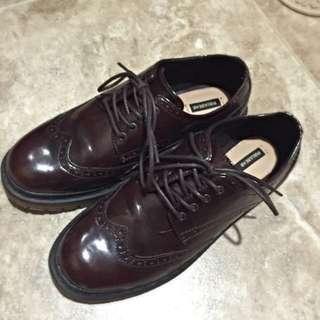 Pull&bear復古皮鞋38號