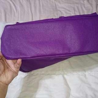 Porter紫色手提包