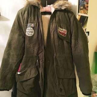 寒冬必備 韓版超厚鋪棉軍外套