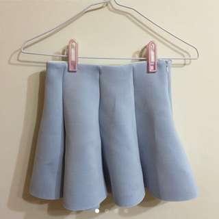 全新天空藍短裙
