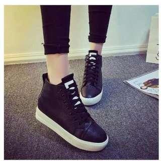 8120黑色厚底鞋