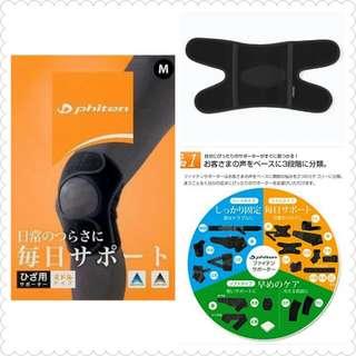 日本 phiten 護膝(S M L三種尺寸)