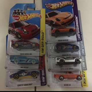 Hotwheels Set of 7