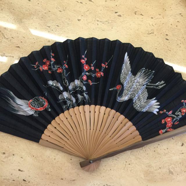 京都300年白竹堂手工竹扇