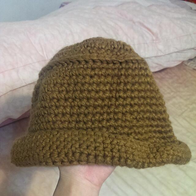 可愛毛線漁夫帽