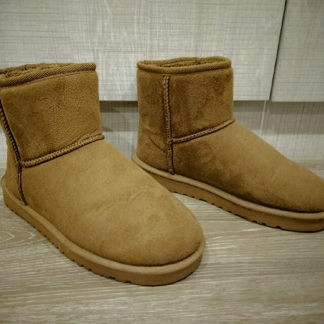 現貨🔹駝色短款雪靴