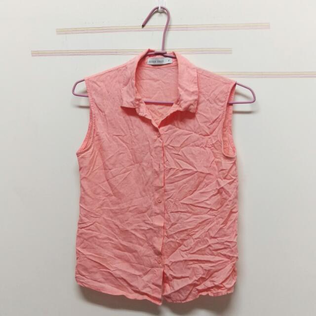 衣/夏季粉色背心襯衫👕