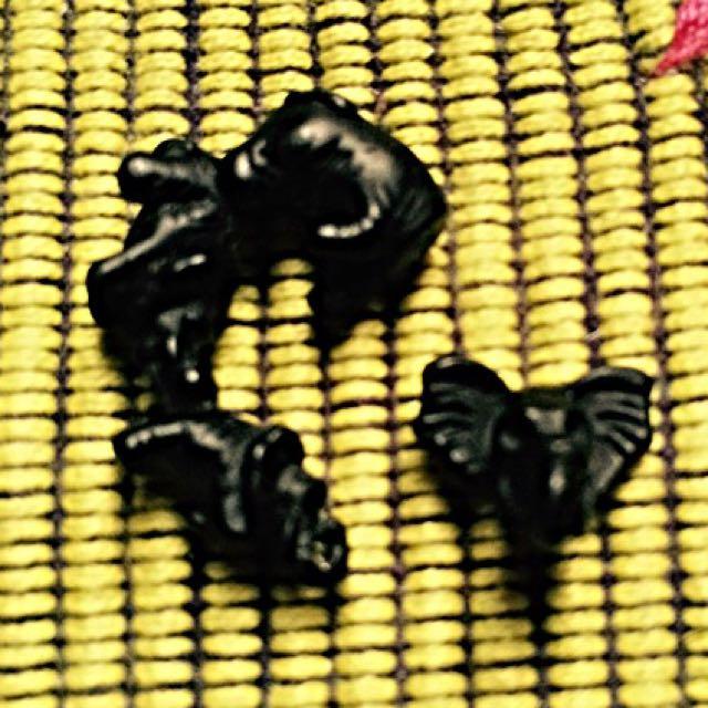 立體 大象造型耳環