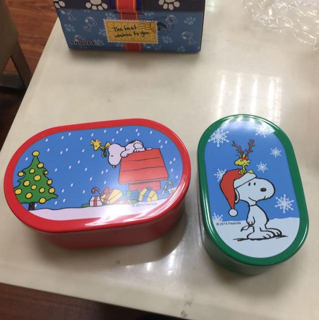 聖誕節  史奴比保鮮盒