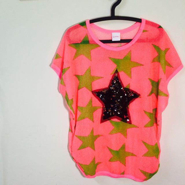 螢光粉星星上衣