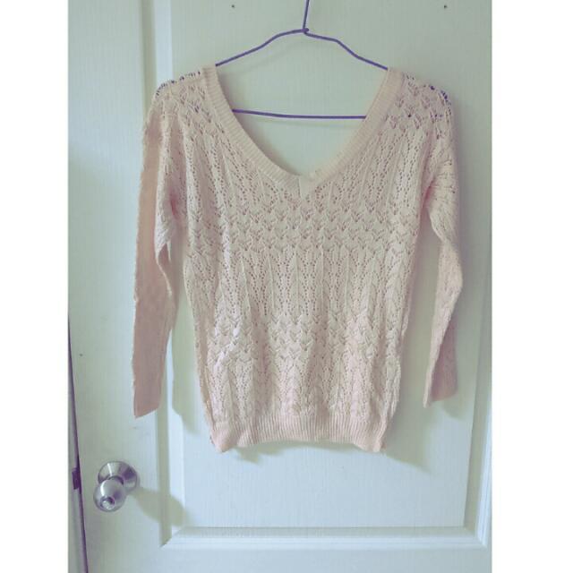 降價100⏩70粉色針織衣💋