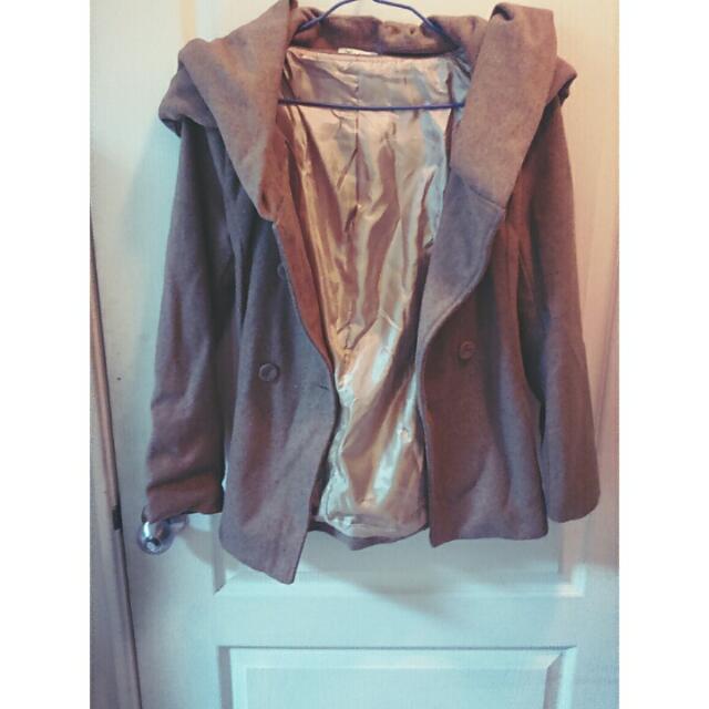 (降價)450⏩290駝色大衣附綁帶