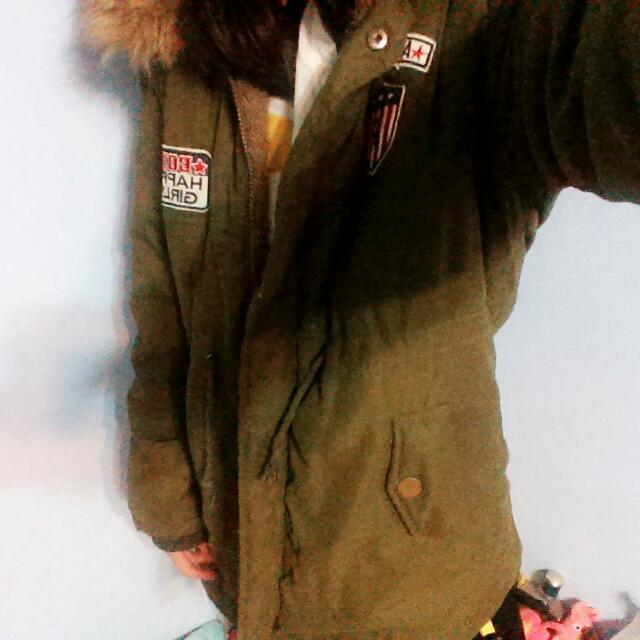 [含運]軍綠厚外套