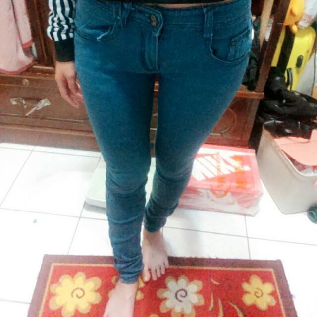 藍綠色鉛筆褲💕