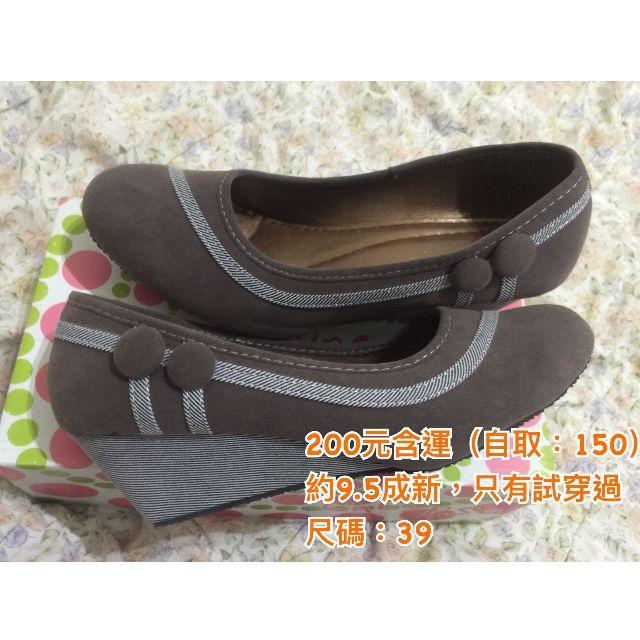 女款 冬季款 娃娃鞋  增高 高跟 二手 9成新