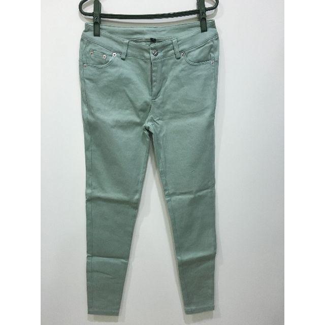 (二手) 窄管水湖綠彈性色褲 L號