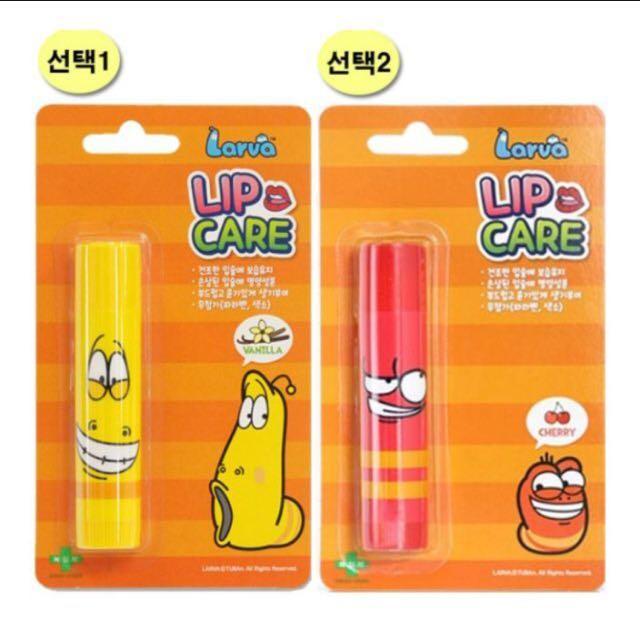 限量版 豆豆韓國美妝 Larva LIP CARE可愛豆豆蟲潤唇膏