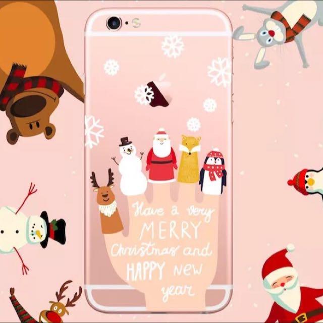 聖誕節雪人麋鹿聖誕老公公 iPhone 6 手機殼