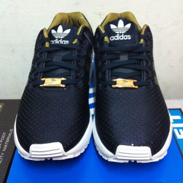 ADIDAS ZX FLUX 黑色金編 限量女鞋