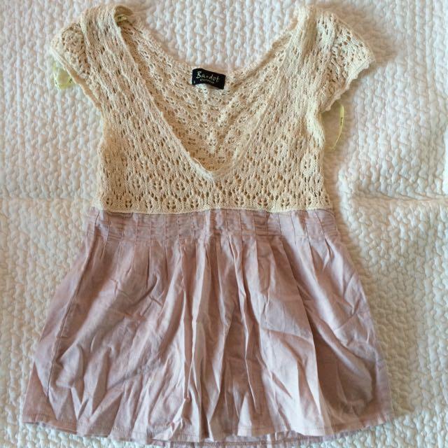 Bardot Cream Knit Top